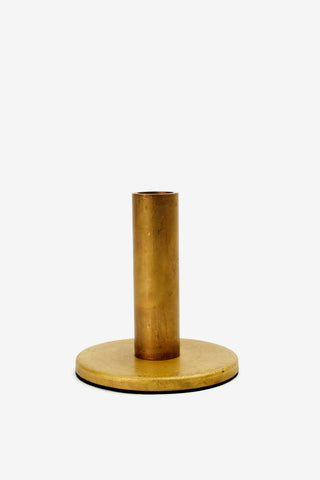 H. Skjalm P. Candle Stand Raw Brass 12 cm, Candles, H. Skjalm P. - Six and Sons