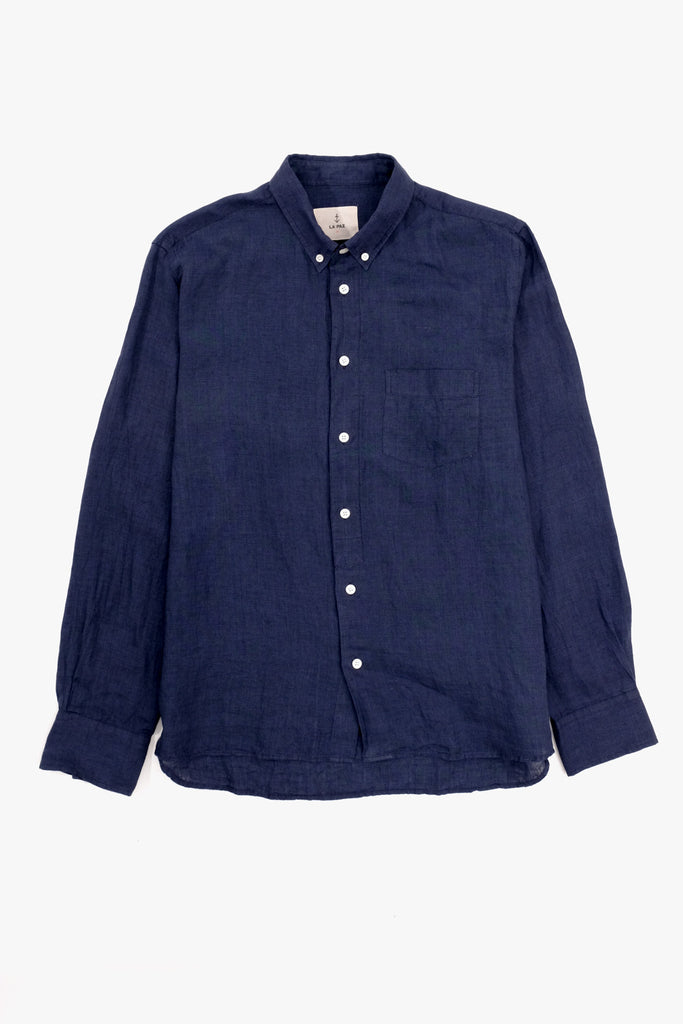 Branco Classic Shirt Navy, Clothing Men, La Paz - Six and Sons