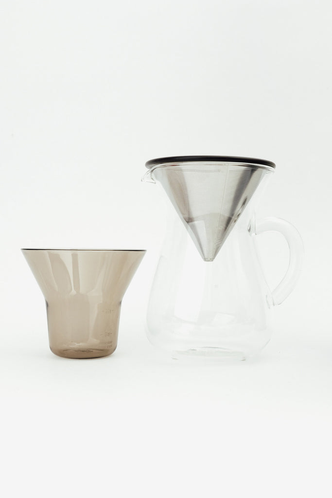 Coffee Carafe Set 300ml Stainless Steel, Kitchen, Kinto - Six and Sons