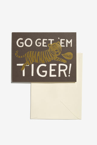 Go Get 'Em Tiger Card, Office, Rifle Paper Co. - Six and Sons