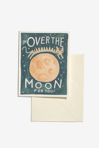 Over The Moon Card, Office, Rifle Paper Co. - Six and Sons