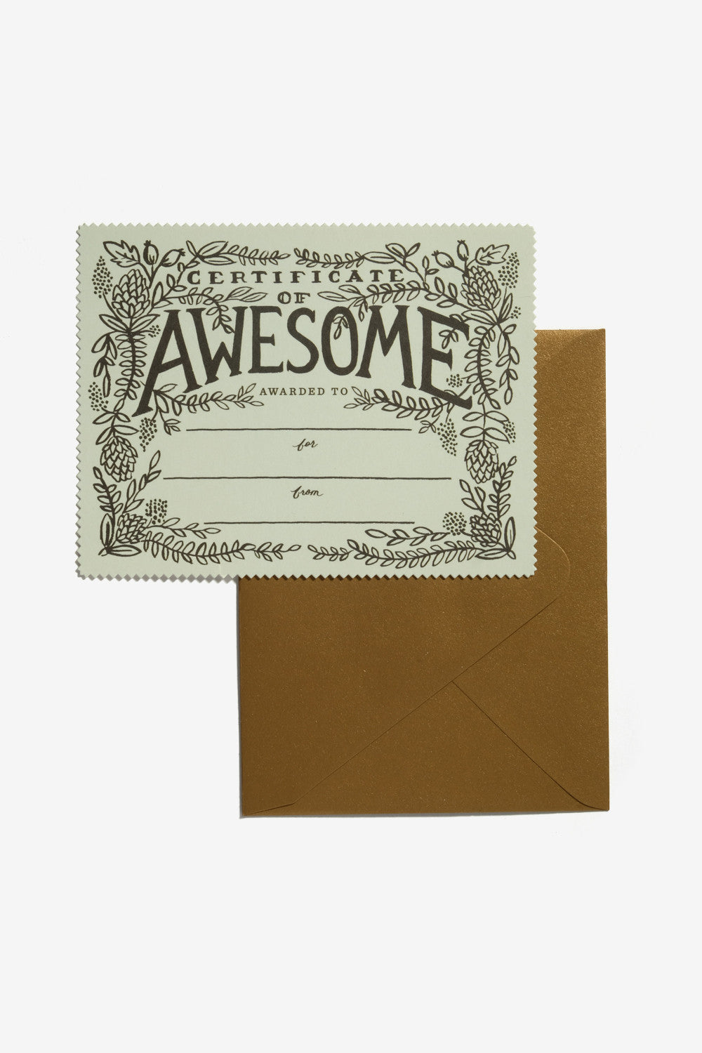 Certificate of Awesome Card, Office, Rifle Paper Co. - Six and Sons