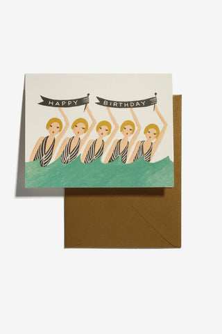 Synchronized Birthday Card, Office, Rifle Paper Co. - Six and Sons