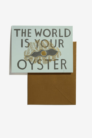 Rifle Paper Co. Card The World Is Your Oyster, Office, Rifle Paper Co. - Six and Sons