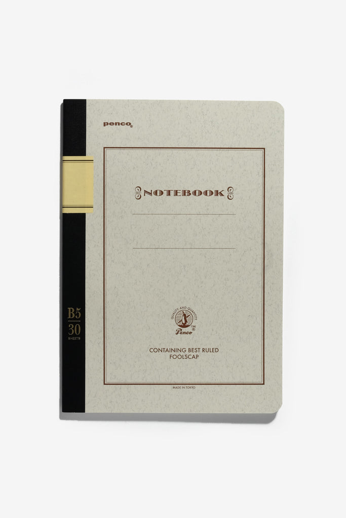 Foolscap Notebook B5 Brown, Office, Penco - Six and Sons