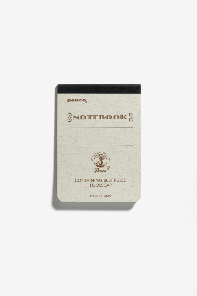 Foolscap Notebook A7 Brown, Office, Penco - Six and Sons