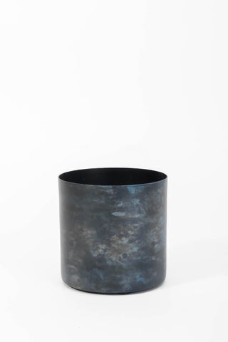Flower Pot Ø10 cm Black Blue Finish, Interior, H. Skjalm P. - Six and Sons