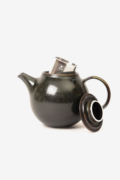 Pebble Teapot 500ml Black, Tableware, Kinto - Six and Sons