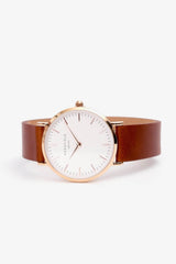 The Tribeca White Brown Rosegold 33mm, Watches, Rosefield - Six and Sons