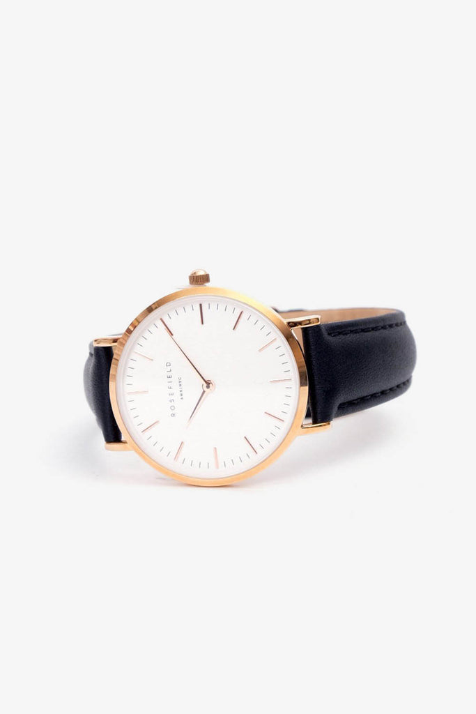 The Tribeca White Black Rosegold 33mm, Watches, Rosefield - Six and Sons