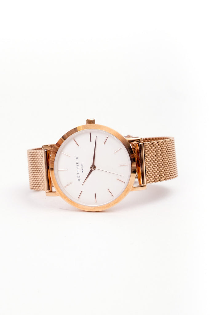 The Tribeca White Rosegold 33mm, Watches, Rosefield - Six and Sons