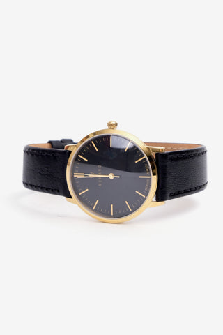 Elite Black Gold 35,5 Veau Black, Watches, Renard - Six and Sons