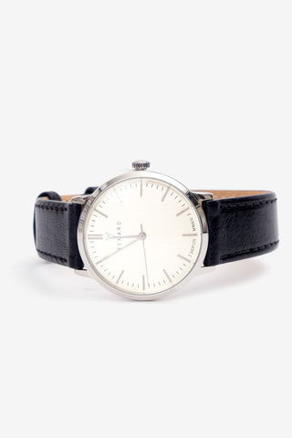 Elite Eggshell Silver 35,5 Veau Black, Watches, Renard - Six and Sons
