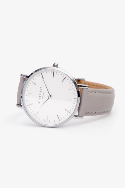 Bowery White Grey Silver, Watches, Rosefield - Six and Sons