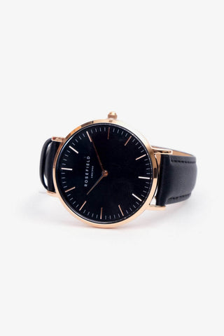 Bowery Black Black Rosegold, Watches, Rosefield - Six and Sons