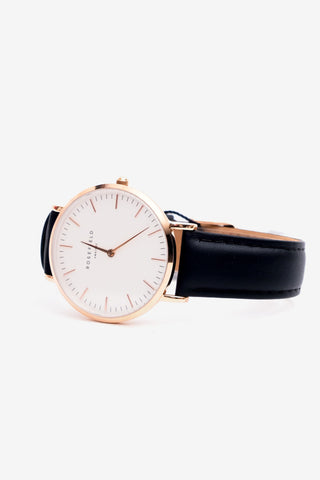 Bowery White Black Rosegold, Watches, Rosefield - Six and Sons