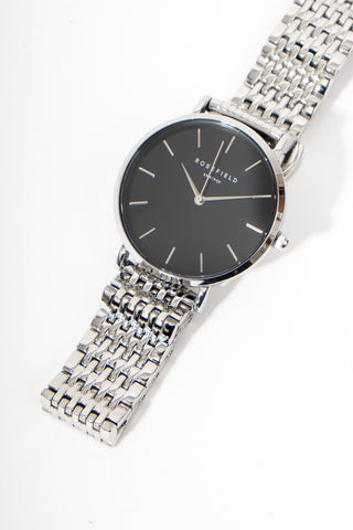 The Upper East Side Black Silver, Watches, Rosefield - Six and Sons