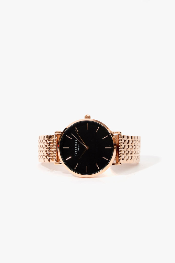 The Upper East Side Black Rose Gold, Watches, Rosefield - Six and Sons