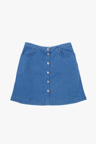 Nué Notes , Alexa Skirt Denim Blue, Clothing Women, Nué Notes - Six and Sons