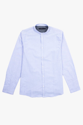 NOOS Mandarin Shirt Light Blue, Clothing Men, Suit - Six and Sons