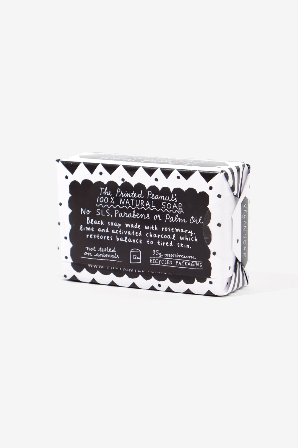 Natural Handmade Black Soap Bar, Personal Care, The Printed Peanut LTD - Six and Sons