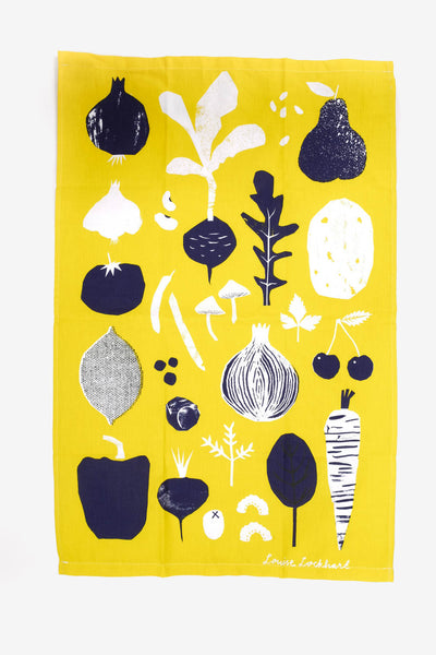 Fruit & Veg Tea Towel, Kitchen, The Printed Peanut LTD - Six and Sons