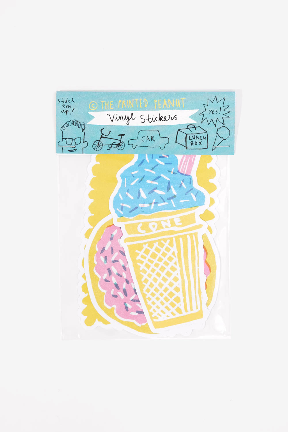 Sweet Treats Vinyl Sticker Pack, Gifts, The Printed Peanut LTD - Six and Sons