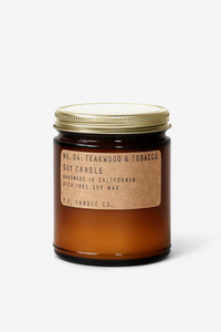 Teakwood & Tobacco 3.5 oz Soy Candle, Candles, P.F. Candle Co. - Six and Sons