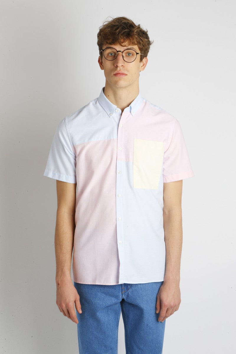 Theo Oxford Short Sleeve Multicoloured Shirt