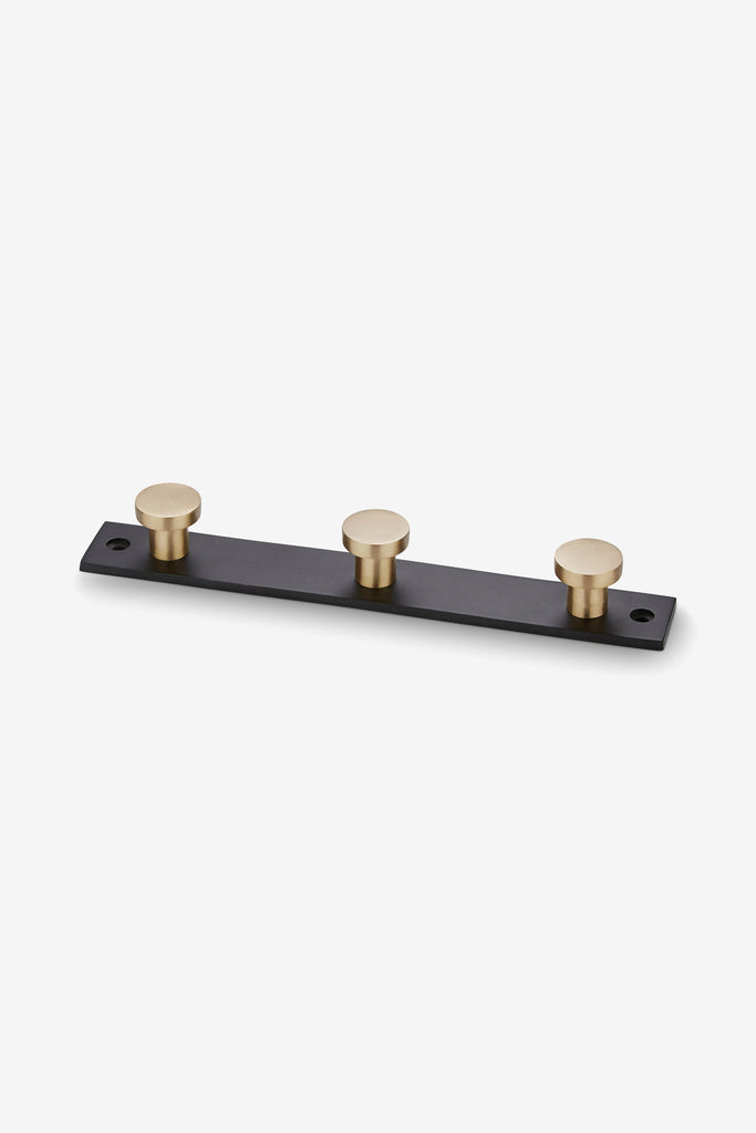 Coat Rack Black, X3 Brass Knobs, interior, H. Skjalm P. - Six and Sons