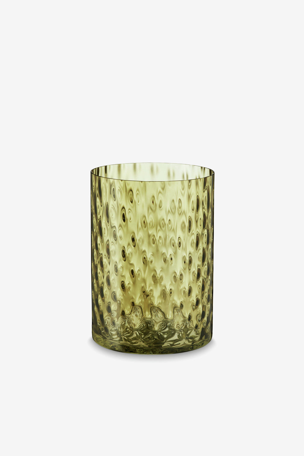Vega Glass Vase, 20cm, Mustard, Interior, H. Skjalm P. - Six and Sons