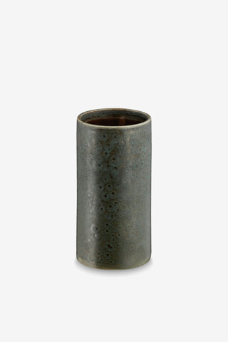 Vase Cylinder Kansas, Ceramic Green, interior, H. Skjalm P. - Six and Sons