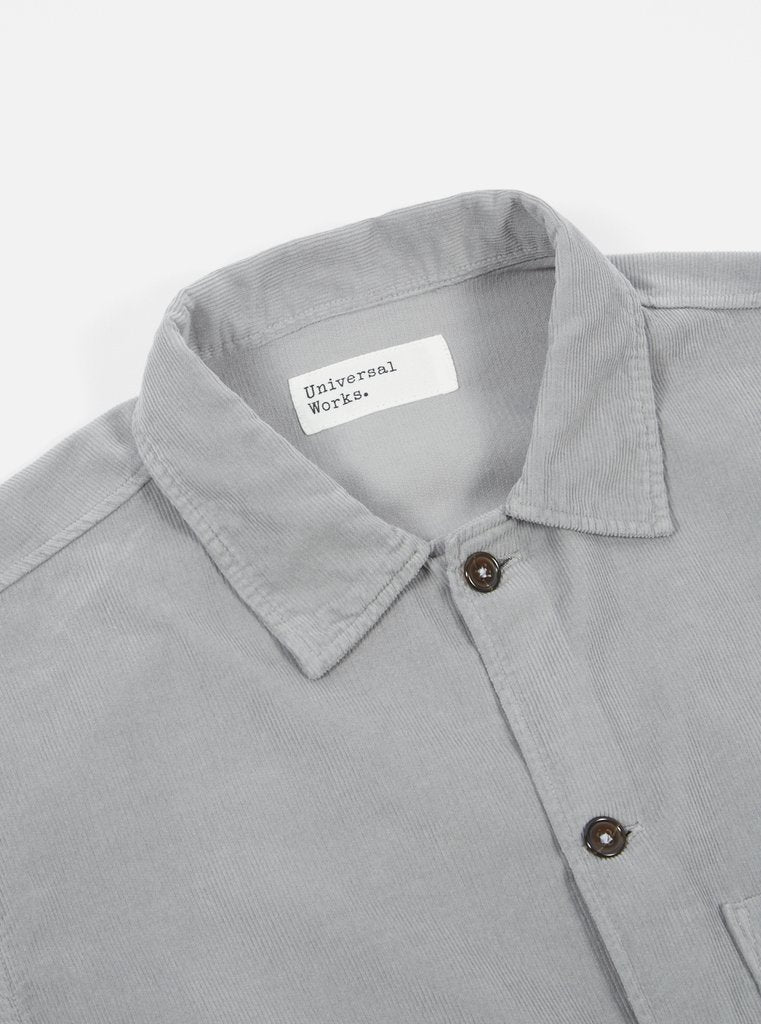Grey Fine Cord Uniform Shirt