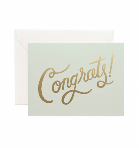 Timeless Congrats Card, Office, Rifle Paper Co. - Six and Sons