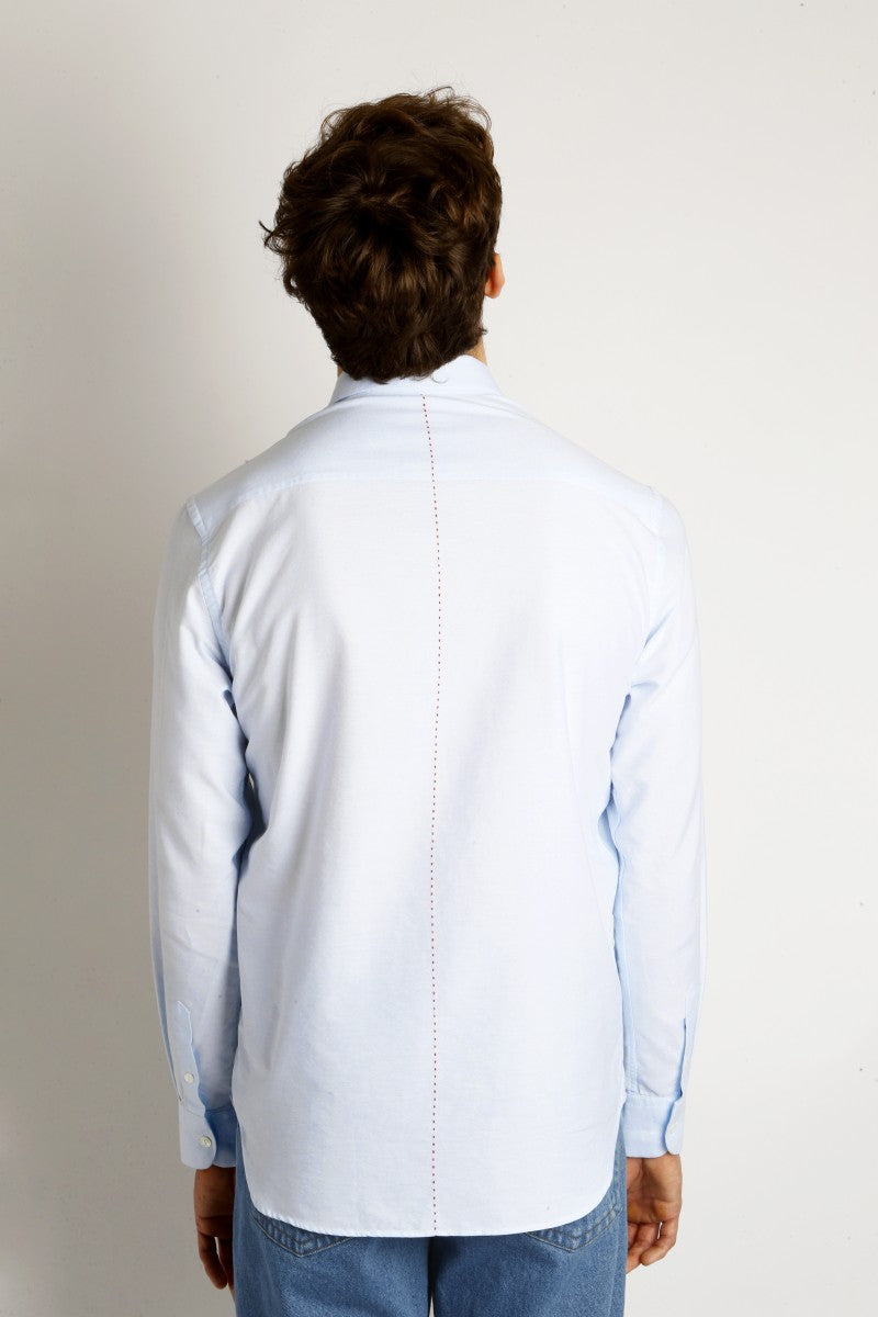 Tokyo Small Logo Shirt in Pastel Blue