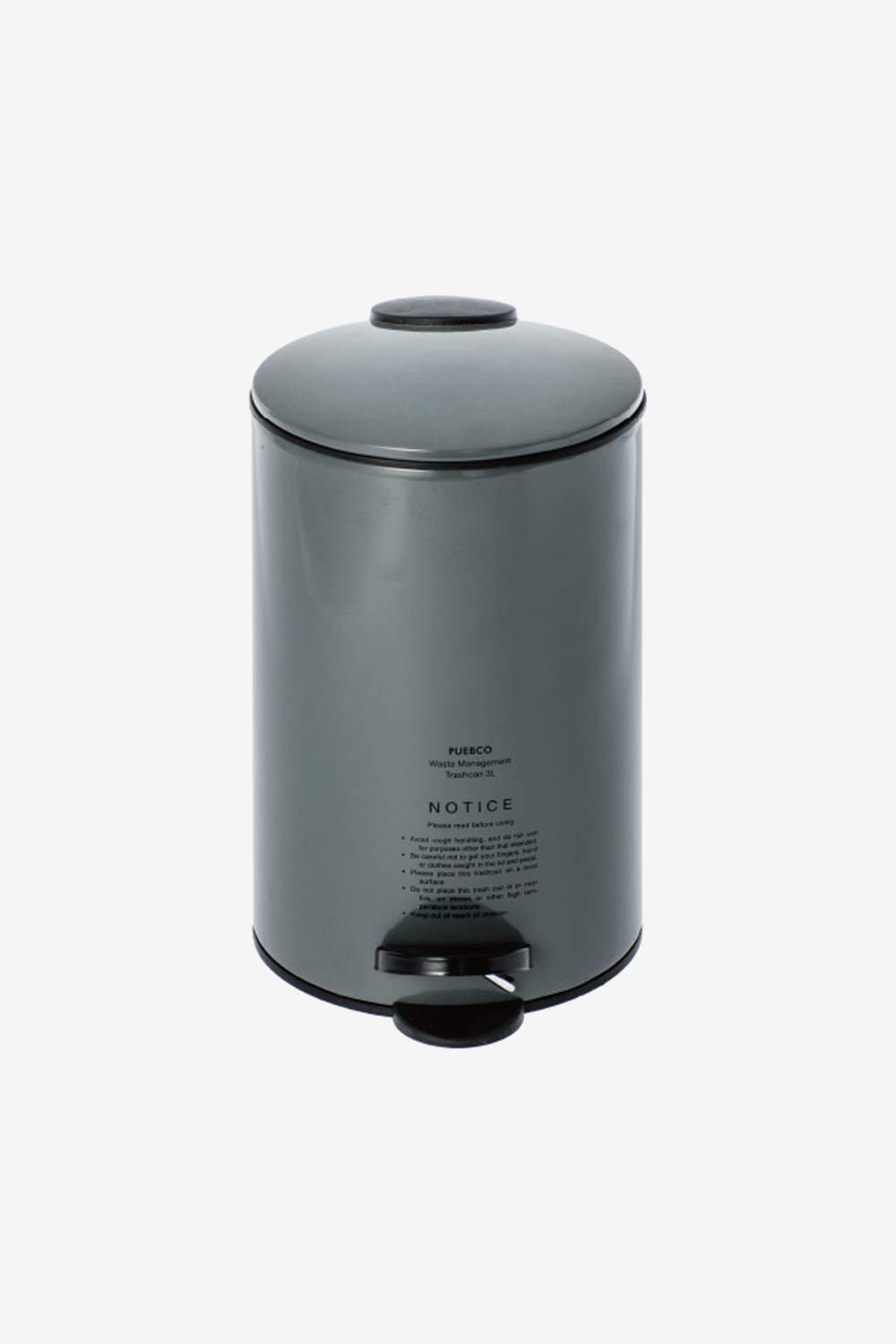 PUEBCO Trashcan Grey, Tools, PUEBCO - Six and Sons