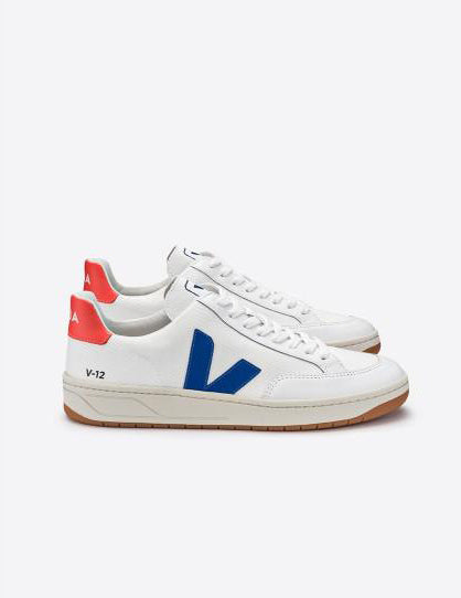 V12 Women B-mesh White Indigo Orange Fluo