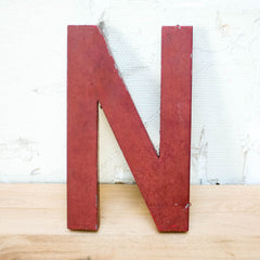 Vintage Zinc letter, Vintage, Vintage Finds - Six and Sons