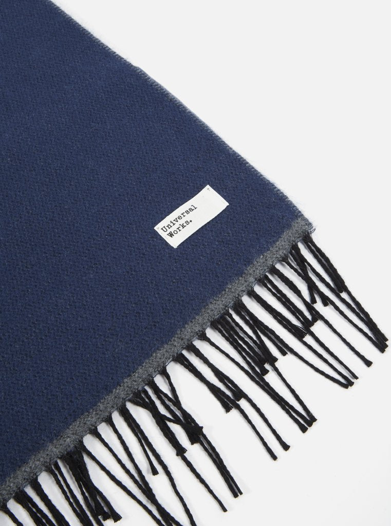 Navy Double Sided Scarf