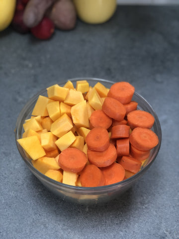 Chopped Carrots & Butternut for Soup