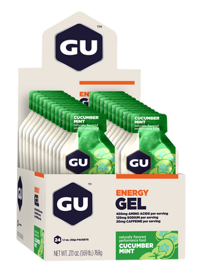 GU Energy Gel - Cucumber Mint (Box of 24) (Best By) - GU Energy New Zealand