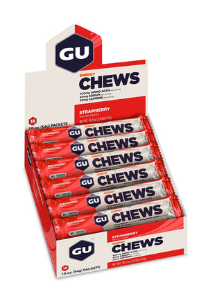 Gu Chews (Box of 18 Double Serves) Expired - GU Energy New Zealand