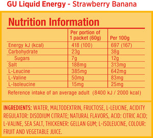 GU Liquid Energy (24 Pkt Box)