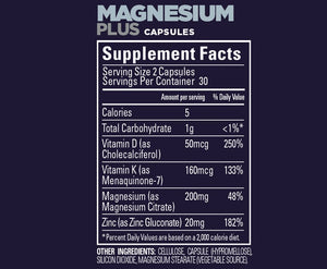 Magnesium Plus Roctane Capsules (60 Srv Can) - GU Energy New Zealand