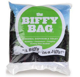 Biffy Bag Personal Disposable Toilet
