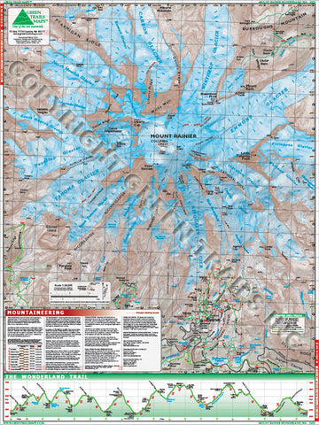 Mt Rainier Climbing Map