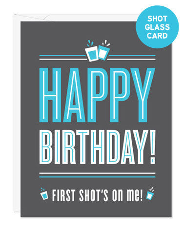 Shot Glass Card