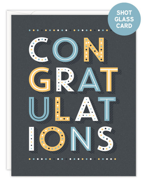 Congratulations Shot Glass Card