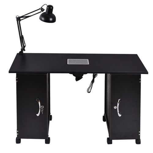 Nail Table Manicure Station Black Steel
