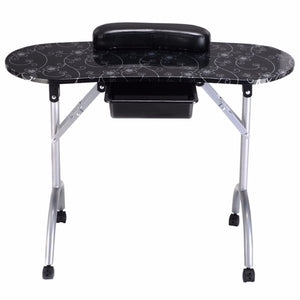 White Manicure Nail Table Portable Station